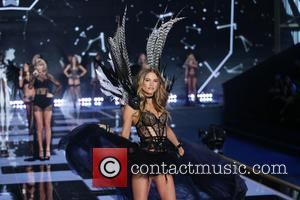 Behati Prinsloo - Shots from the Victoria's Secret Fashion Show 2014 runway which saw the Victoria's Secret Angels strut their...