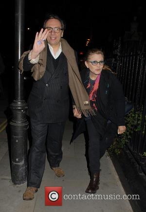 Carrie Fisher - Celebrities at Chiltern Firehouse restaurant in Marylebone - London, United Kingdom - Wednesday 3rd December 2014