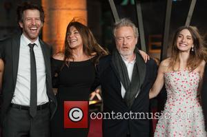 Andrew Tarbet, Giannina Facio, María Valverde and Sir Ridley Scott