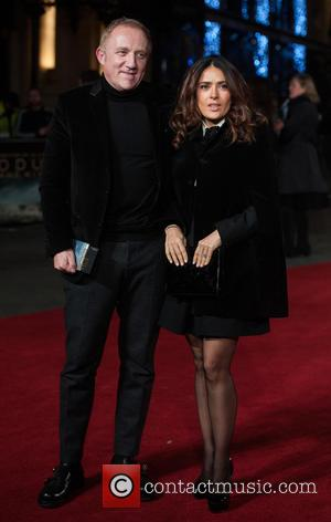 Salma Hayek and Francois-Henri Pinault - Photographs of a variety of celebrities as they took to the red carpet for...