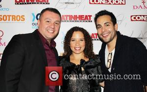 Joel Gonzalez, Fanny Veliz and Reko Moreno - 4th Annual Holiday Celebration and Toy Drive hosted by Nosotros and Latin...