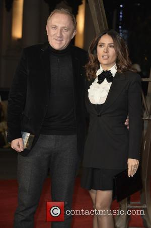 Salma Hayek and François-Henri Pinault - Photographs of a variety of celebrities as they took to the red carpet for...