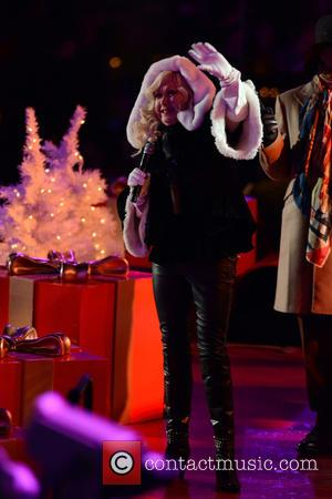 Cyndi Lauper - Shots of a variety of stars at the 82nd Annual Rockefeller Christmas Tree Lighting Ceremony in Manhattan,...