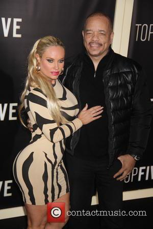 Coco Austin and Ice-T - New York premiere of 'Top Five' at the Ziegfeld Theater - Arrivals at Zeigfeld Theater...