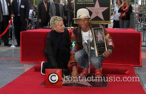 Ellen Degeneres and Pharrell Williams