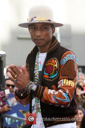 Pharrell Williams - Pharrell Williams Hollywood Walk of Fame Star Ceremony in front of the W Hotel Hollywood at W...