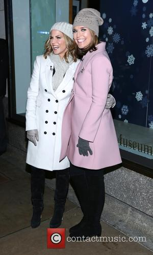 Natalie Morales and Savannah Guthrie - Shots of a variety of stars and the crowd at the 82nd Annual Rockefeller...