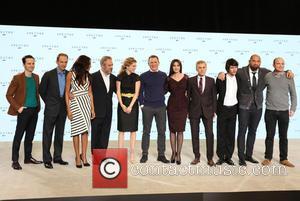 Andrew Scott, Ralph Fiennes, Naomie Harris, Director Sam Mendes, Lea Seydoux, Daniel Craig, Monica Bellucci, Christoph Waltz, Ben Whishaw and Dave Bautista