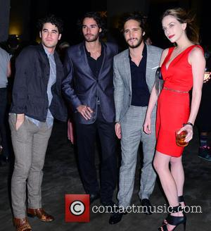 Darren Criss, Guest and Diego Boneta - Shots of a host of stars as they arrived at the Paper Magazine...