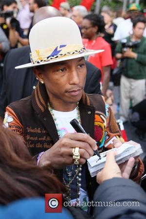 Pharrell Williams - American pop star Pharrell Williams was presented with a Hollywood walk of fame star at Hollywood Blvd...