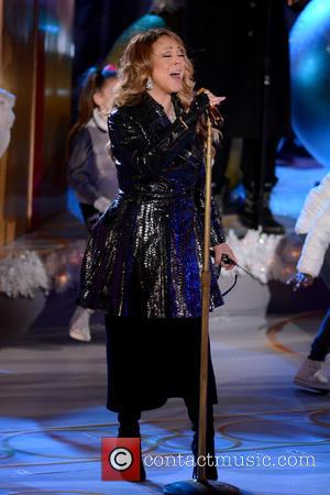 Mariah Carey - Shots of a variety of stars at the 82nd Annual Rockefeller Christmas Tree Lighting Ceremony in Manhattan,...