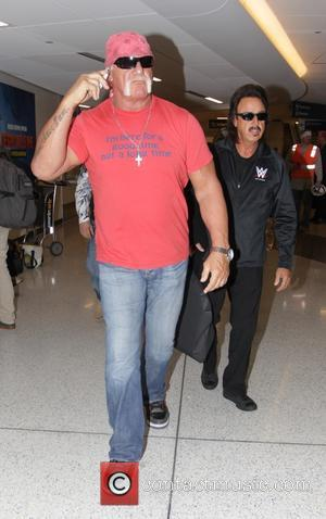 Hulk Hogan and Jimmy Hart - Hulk Hogan and professional wrestling manager Jimmy Hart arrive at Los Angeles International Airport...