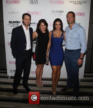 Jared Shapiro, Erica Corman, Alicia Peristeris and Apostolos Peristeris - Ocean Drive Magazine December Cover Model Krysten Ritter launch at...