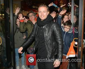 Nicky Byrne - RTE 2fm Radiothon is broadcast live from the window of United Colors of Benetton at the Stephen's...