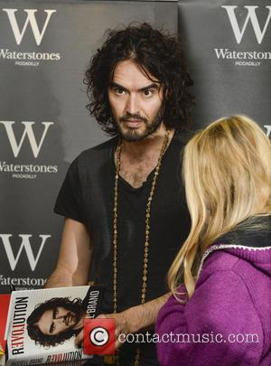 Russell Brand - Russell Brand signs copies of his new books 'Revolution' and 'The Pied Piper of Hamelin' at Waterstones,...