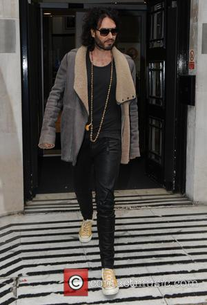 Russell Brand - Russell Brand at the BBC Radio 2 studios - London, United Kingdom - Friday 5th December 2014