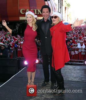 Holly Madison, Wayne Newton and Olivia Newton John