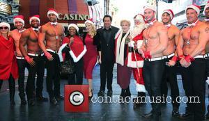 Holly Madison, Wayne Newton, Olivia Newton John, Mayor Carolyn Goodman and Chippendales