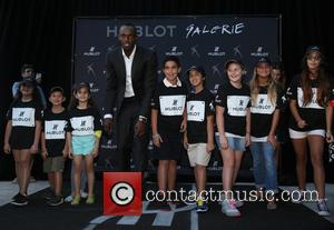 USAIN BOLT - Hublot Design District Boutique grand opening with a special charity sprint with brand ambassador Usain Bolt to...