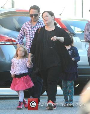 Melissa McCarthy, Ben Falcone, Vivian Falcone and Georgette Falcone - Melissa McCarthy and husband Ben Falcone take their daughters Vivian...