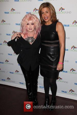 Cyndi Lauper and Hoda Kotb