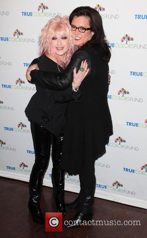 Cyndi Lauper and Rosie O'donnell