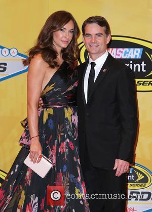 Jeff Gordon and Ingrid Vandebosch - 2014 NASCAR Sprint Cup Series Awards Arrivals at Wynn Las Vegas at Wynn Las...