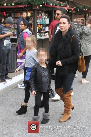 Kyle Richards - Kyle Richards takes her family shopping at The Grove in Hollywood - Los Angeles, California, United States...