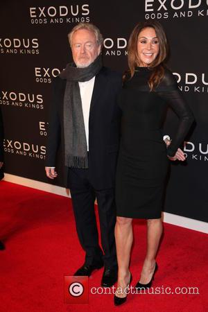 Ridley Scott and Giannina Facio - Photographs of a variety of stars as they arrived at the New York Premiere...