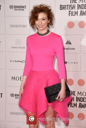 Eleanor Tomlinson - Photographs of a host of stars as they arrived for the Moet British Independent Film Awards which...