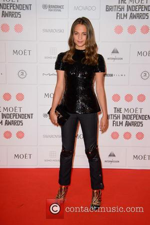 Alicia Vikander - Photographs of a host of stars as they arrived for the Moet British Independent Film Awards which...