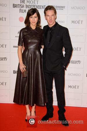 Sophie Hunter and Benedict Cumberbatch - Photographs of a host of stars as they arrived for the Moet British Independent...