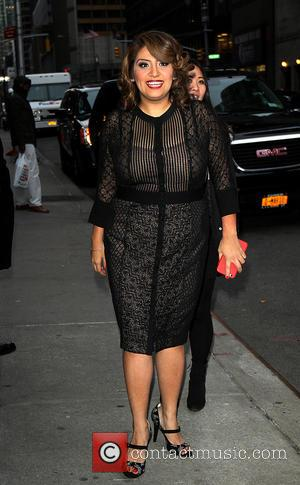 Cristela Alonzo - Celebrities outside the Ed Sullivan Theater for 'Late Show with David Letterman' at Ed Sullivan Theater -...