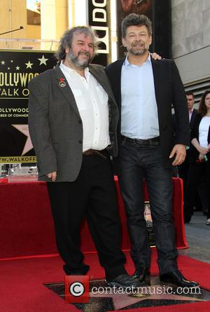 Andy Serkis and Peter Jackson - Director Peter Jackson honored with a star on the  Hollywood Walk of Fame...