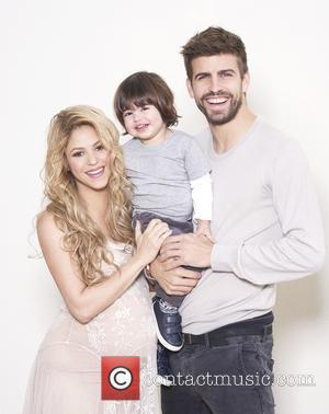 Shakira, Gerard Piqué and Milan Piqué Mebarak - Singer-songwriter and Unicef Goodwill Ambassador Shakira, and FC Barcelona soccer star Gerard...