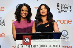Tessa Thompson and Gina Rodriguez