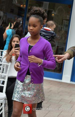 Quvenzhane Wallis - Shots from the Annie Miami Walk Of Fame Ceremony which was held at the Bayside Marketplace on...