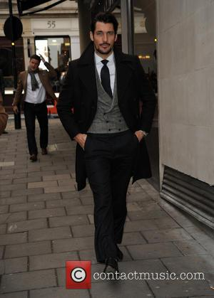 David Gandy - GQ Xmas lunch Arrivals - London, United Kingdom - Tuesday 9th December 2014