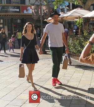 Jeff Goldblum and Emilie Livingston - Jeff Goldblumholding hands with his wife Emilie Livingston as the go shopping at The...