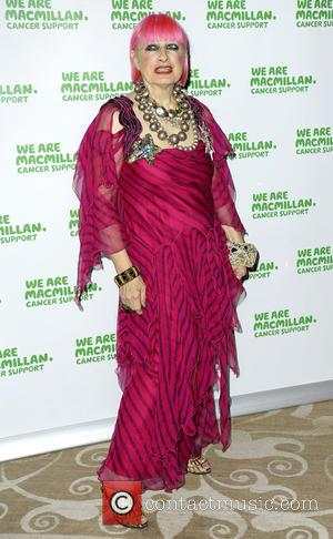 Zandra Rhodes - Shots of a host of stars as they arrive at the Macmillan Celebrity Christmas Stocking Auction which...