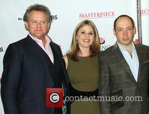 Hugh Bonneville, Jenna Bush Hager and Gareth Neame
