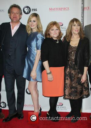 Hugh Bonneville, Laura Carmichael, Lesley Nicol and Phyllis Logan