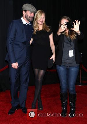 Jon Hamm, Jennifer Westfeldt and Fan