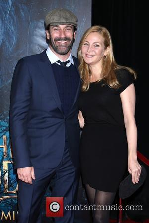 Jon Hamm and Jennifer Westfeldt - Photographs from the red carpet as a vast array of stars arrived for the...