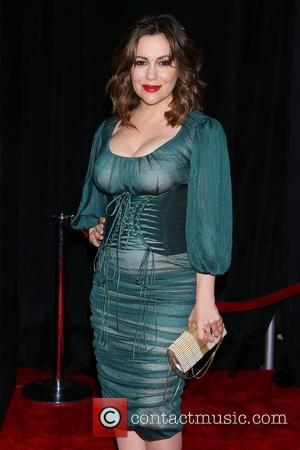 Alyssa Milano - Photographs from the red carpet as a vast array of stars arrived for the World Premiere of...