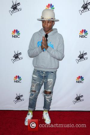 Pharrell Williams - Shots from the red carpet ahead of NBC's season 7 of