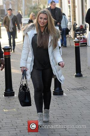 Lauren Goodger - Audley Harrison meets TOWIE stars Gemma Collins and Lauren Goodger at Collins shop to sign copies of...