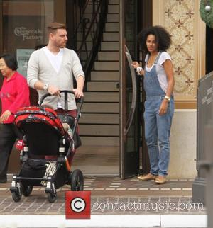 Marsha Thomason and Craig Sykes - Marsha Thomason takes her family shopping at The Grove in Hollywood - Los Angeles,...