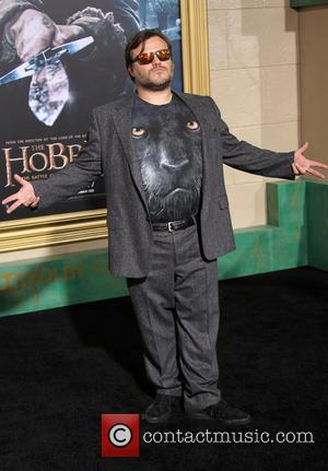 Jack Black - Photographs from the red carpet at the Los Angeles premiere of the third movie in the Hobbit...