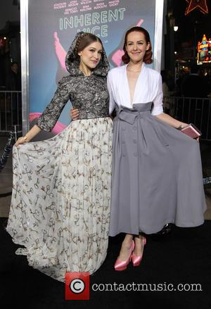 Joanna Newsom and Jena Malone - Los Angeles premiere of 'Inherent Vice' - Arrivals at TCL Chinese Theatre - Hollywood,...